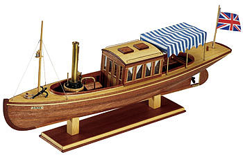 wood ship models, wood boats,1/26 Louise Steam Launch Kit