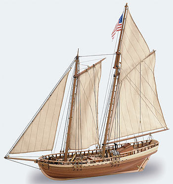 wood ship models, wood boats,1/41 Virginia American Schooner