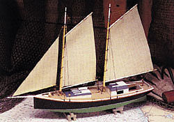 wood model ships, wood ship models,Sharpie Schooner Kit