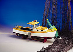 wood ship models, wood boats,Maine Lobster Boat Kit